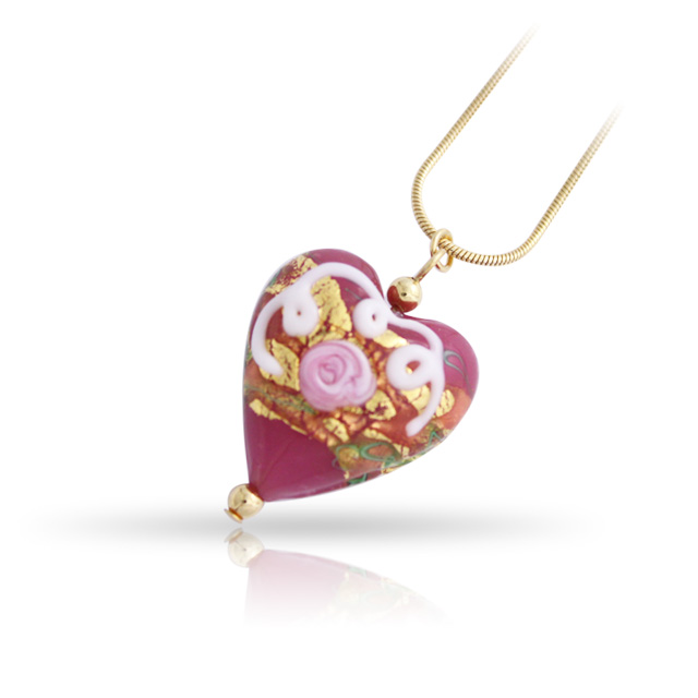 Murano Glass Chain Necklace HP20-1