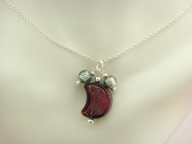Murano Glass Chain Necklace P25-1
