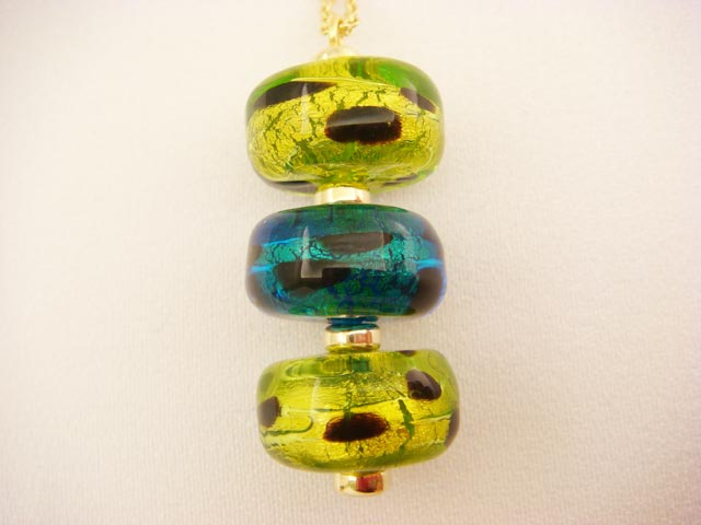 Murano Glass Chain Necklace P28-2